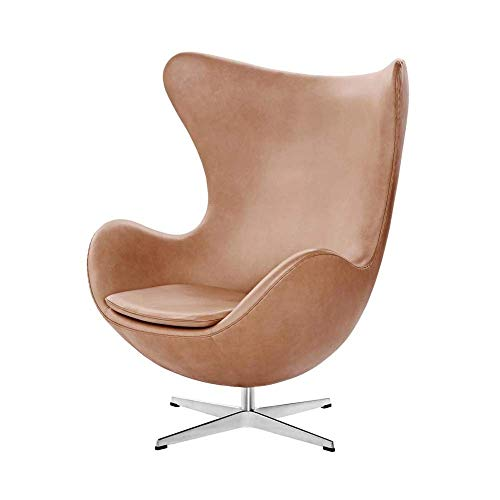 Woody24 Ledersessel Egg Chair-beige