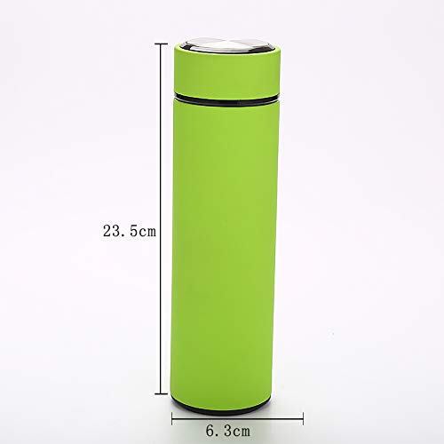 Insulated Double Wall Stainless Steel Vacuum Flask 16oz (Green)
