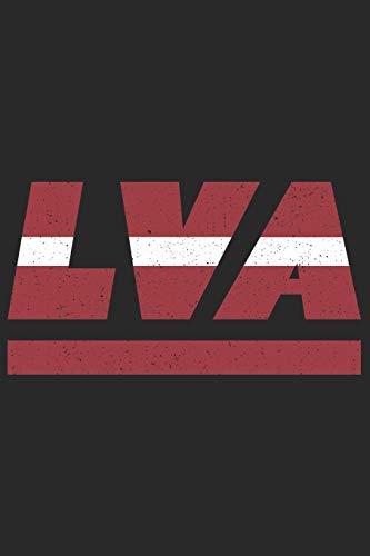 LVA: Lettland Notizbuch mit karo 120 Seiten in weiß. Notizheft mit der lettischen Flagge (German Edition)