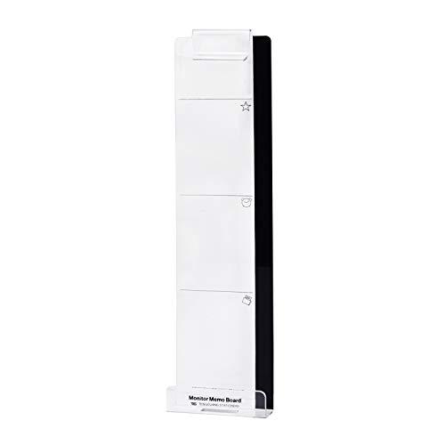 モニターメモボード 付箋 カード 収納 粘着 付箋ボード パソコン メッセージ メモボード 透明 スケジュールボード 付箋紙ツール 携帯スタンド 充電可能 付箋紙用 写真 名刺クリップ メモステッカー 左側 オフィス
