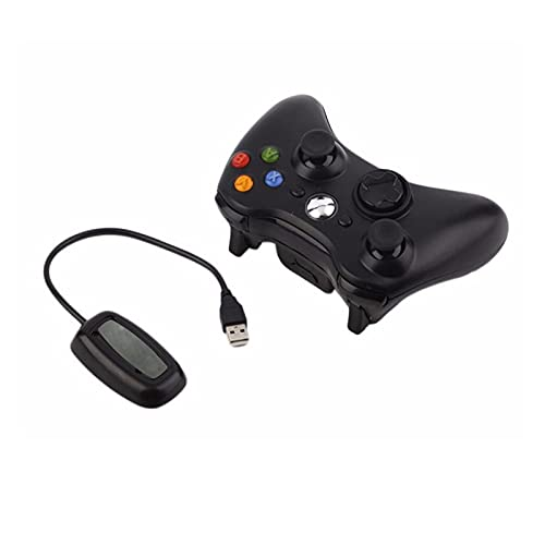 MKCUXC Controladores Controlador inalámbrico para Microsoft Xbox 360 con Receptor de PC Wireless 2.4G Gamepad Joystick Controler Controladores de conmutación (Color : Red)