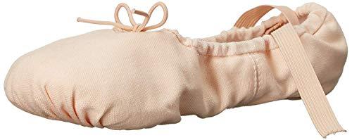Sansha unisex-adult Pro 1 Canvas Ballet Slipper,Light Pink,10 M (8 M US Women's/6 M US Men's)