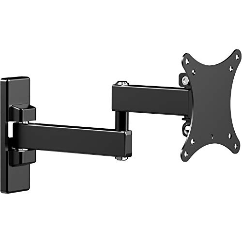 WORLDLIFT Soporte de Pared para TV, Base giratoria e inclinable Gira el Soporte de Pared para TV para televisores de 13-27 Pulgadas de hasta 15 kg - VESA 75x75mm/100x100mm