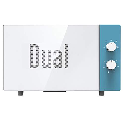 Horno de microondas giratorio, 0.7 pies cúbicos, acero inoxidable, gabinete blanco, horno mecánico pequeño retro incorporado para el dormitorio, blanco (color : Azul)