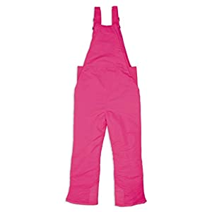 Arctic Quest Unisex Boys and Girls Unisex Ski & Snow Bib Pants Overalls, Day Glow Pink, 7/8