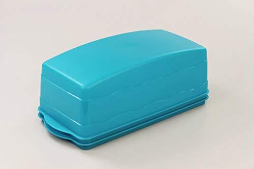 Tupperware Junge Welle Kastenkuchenbehälter dunkeltürkis Kuchenform 34461