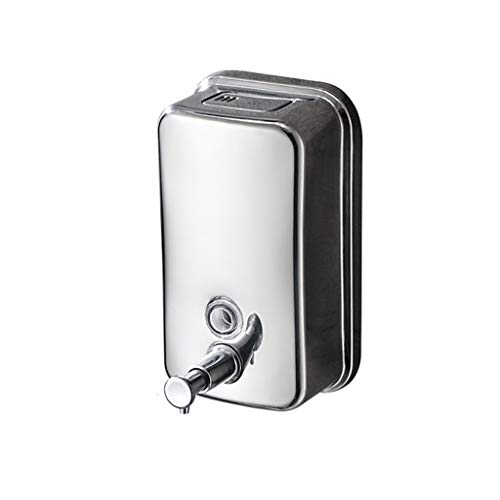 Dzwyc Dispensador de jabon Dispensador de jabón Caja de jabón Manual Hotel baño Cocina Pared montado jabón Botella Dispensador (Capacity : 1000ML)