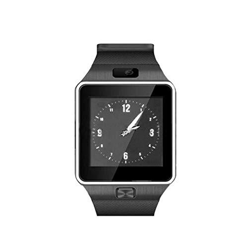 WFQ Watch Touch Screen Smart Watch mit Bluetooth Kamera Armbanduhr SIM Karte Smartwatch für Handys kompatibel mit Mehreren Sprachen USA Schwarz 2 Batterien
