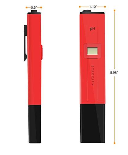 Etekcity pH-009 Digital Pocket-Sized Pen Type pH Meter, Mini Water Quality Tester, pH 0.0 - 14.0 Measuring Range, 0.1pH Resolution