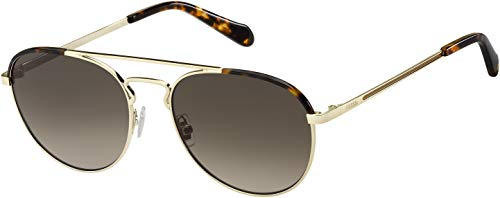 Fossil Mens Sunglasses FOS2105 (Light Gold, Brown)