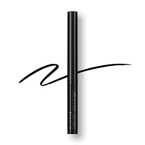 WUNDER2 SUPER-STAY LIQUID LINER Makeup wasserfester, wischfester, lang haftender flüssiger Eyeliner-Stift, Farbton Black