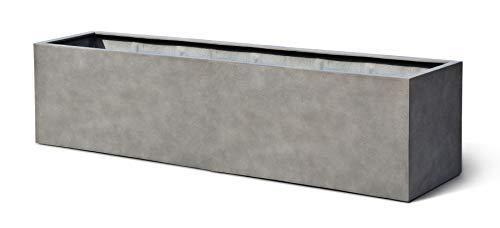 VAPLANTO® Pflanzkübel Box 80 II Beton Grau Rechteckig * 80 x 20 x 20 cm * 10 Jahre Garantie