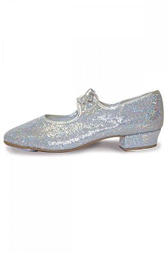 Roch Valley Hologramm Steppschuhe für Mädchen und Damen 31 Silber Hologramm