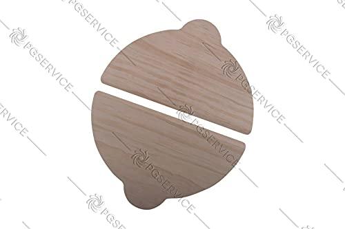 Ariete Paleta de espátulas de madera, 28 cm x 17 cm, 280 mm, para horno y pizza de Gennaro 909 900