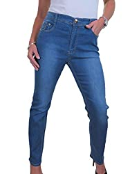 """Design: These are a full length straight leg jean with an Inside Leg of 31"""" (79cms). They are high waisted to give you a slimming figure. The jeans are made of a stretch denim fabric to allow ease when putting them on and allowing you to move easily ..."""