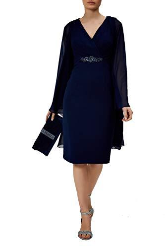 Mascara Navy Mc163061ab Plissierte Mieder Kleid Anzug 44