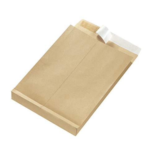 Herlitz 797506 Faltentasche B4 braun, 130 g/qm, 25 Stück eingeschweißt mit Haftklebung (3 Packungen/Braun)