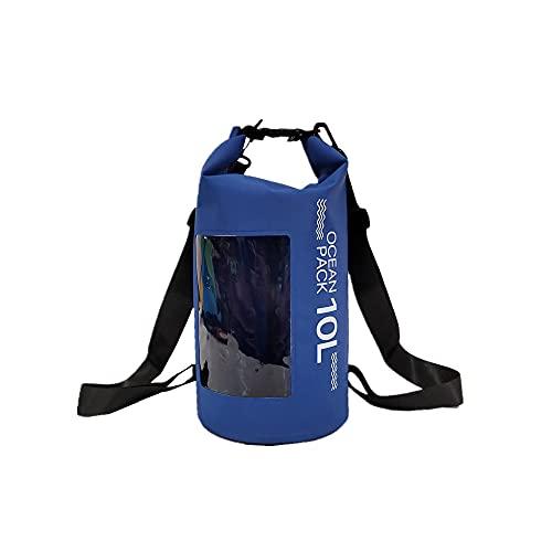lingqing Bolsa impermeable portátil al aire libre Material de PVC Correa de playa ajustable correa de hombro bolsa impermeable playa, adecuado para kayak, rafting y otras actividades acuáticas