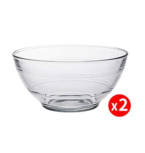 HHXWU Bol Paquet de 2 Vaisselle Vaisselle en Verre Ménage Bol de Riz pour Le ménage, Transparent