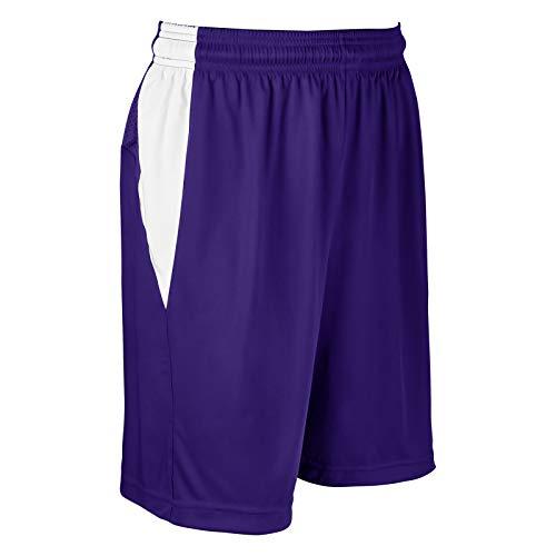 Champro Block Polyester Basketball-Trikot, Damen, klein, lila, weiß