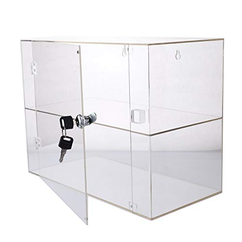 PC3721® 1 Vitrina de acrílico Transparente de Alto Brillo con 1 Estante y una Puerta Frontal con Bloqueo de Seguridad DB199D-08HZ