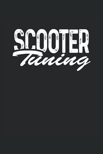 Scooter Tuning Roller Moped Notizbuch (liniert) Mofa Fahrer