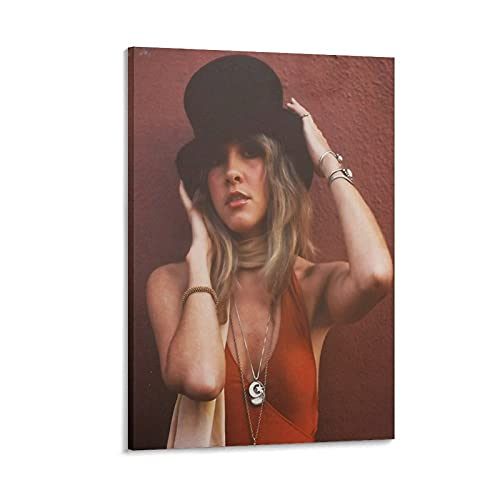 LDGG Stevie Nicks Canvas Poster Canvas Art Poster and Wall Art Picture Print Modern Family Bedroom Decor Posters 28×42inch(70×105cm)