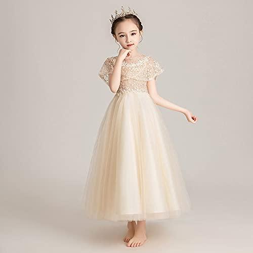 XIAOQIAO Falda de Gasa Blanca de Las niñas, Falda Princesa de cumpleaños, Falda de Gasa hinchada, Vestido de niña de Flores, Disfraces, Adecuado para cumpleaños y Fiestas (Color : C, tamaño : 120)