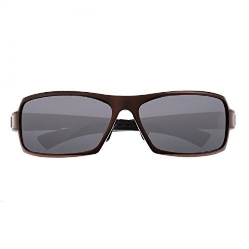 Breed Herren Cosmos Aluminium Sonnenbrille, Herren, braun/schwarz