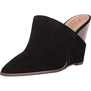 Jessica Simpson Women's Synthetic Slip-On Pointed-Toe Heilo Mules