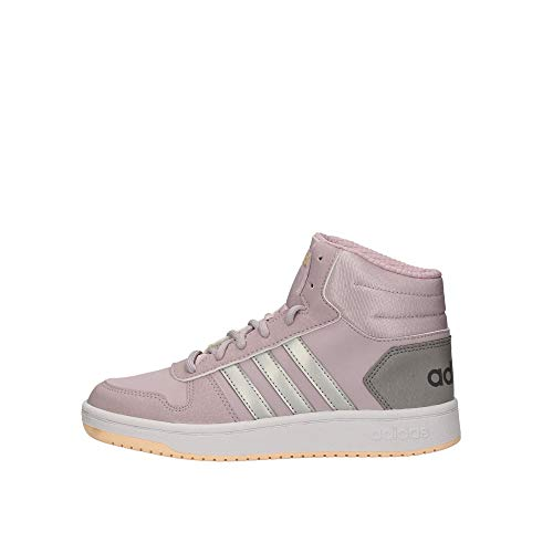 adidas Hoops Mid 2.0 K, Zapatos de Baloncesto Unisex Adulto, Morado (Mauve/Matte Silver/Light Granite Mauve/Matte Silver/Light Granite), 37 1/3 EU