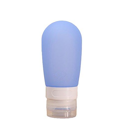 Bluelans Coque en silicone Bouteille de voyage – Souple & rechargeable Voyage contenants pour shampoing, Après-shampoing, lotion & Travel Essentials – 38 ml/80 ml