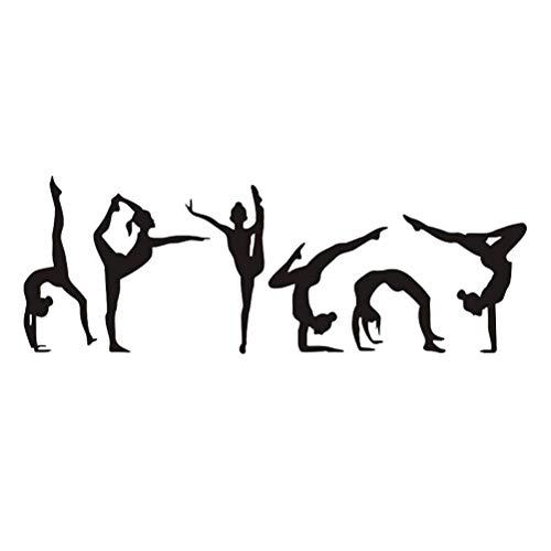 VORCOOL Chica de Baile extraíble Pegatina de Pared Chica Ballet Tatuajes de Pared para niños Dormitorio Sala de Entrenamiento de Vinilo decoración para el hogar Arte de la Pared Tatuajes
