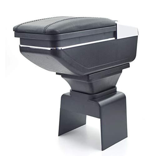 Para Peugeot 307 2004-2013 Apoyabrazos Caja de almacenamiento Coches Reposabrazos Central Negro