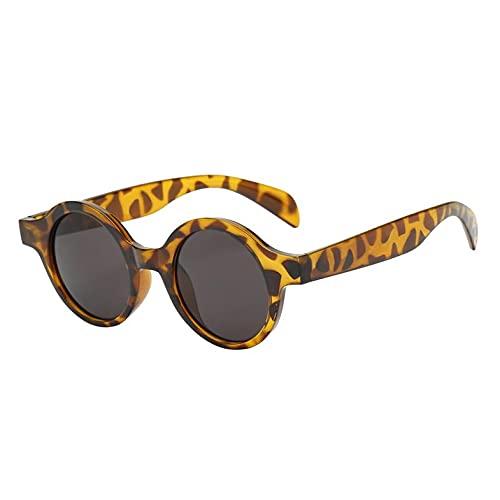 Bellaluee Gafas de Sol de Moda para Mujer con Montura Redonda pequeña y Popular, Montura de PC, Lentes de Resina, Gafas de conducción de Viaje UV, Gafas para Dama