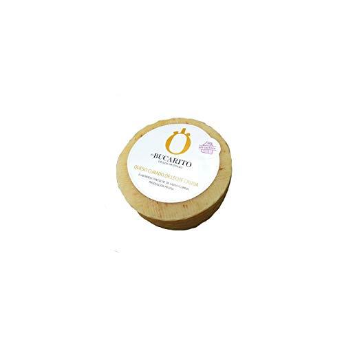 Queso Curado de Leche Cruda Sin Lactosa de 900 gr - Elaborado en Cadiz - Quesos El Bucarito (Pack de 1 pieza)