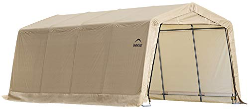ShelterLogic 10' x 20' x 8' All-Steel Metal Frame Peak Style Roof Instant Garage...