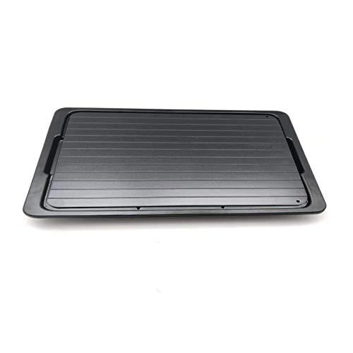 Auftauplatten Auftauen Tablett Aluminium Auftautafel mit Tropfschale, 295 X 205 x 3 mm, mit Tropfschale und Silikonlappen