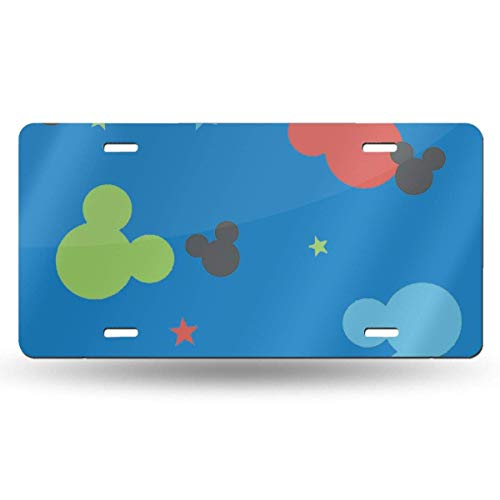 Suzanne Betty Aluminum License Plates - Colorful Mickey Head License Plate Tag Car Accessories 12 X 6 Inches