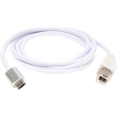 Typ B Midi-Kabel auf Micro-USB-Kabel, Micro-USB auf Midi-Schnittstelle, USB-Adapter OTG-Kabel für Samsung Galaxy, HTC, PS4, Tablet, Tastatur und mehr, E-Piano Audio-Interface