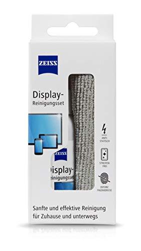 ZEISS Display-Reinigungs-Spray mit 120ml Inhalt inklusive einem Mikrofasertuch zur sicheren & effektiven Reinigung optischer Flächen - alkoholfrei - antistatisch