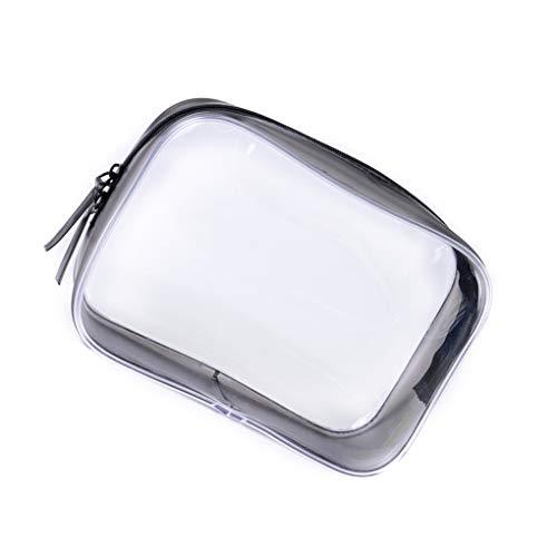 Cdrox Cosmétique PVC Clair Sac Zippered Carry Bag Maquillage Toiletry Portable Pouch Salle de Bains Organisateur étanche