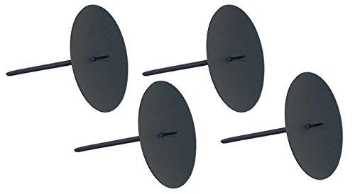 ARTECSIS 4 Kerzenhalter Adventskranz Kerzenteller Adventskerzenhalter schwarz Durchmesser 6cm