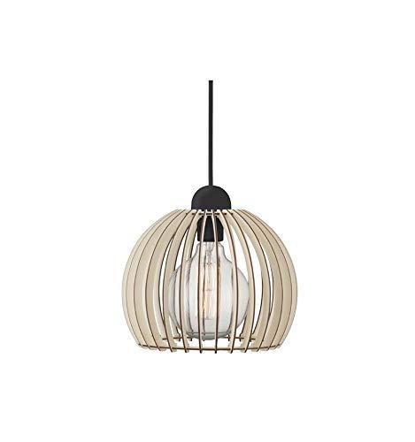 EVEVO–Lámpara de Techo Madera Moderno Techo Madera lámpara Colgante de Madera Moderno plafón 109Colores del Naturales lacks