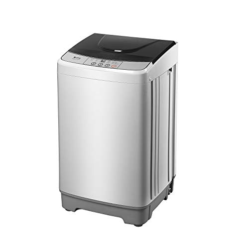 ROVSUN Full-Automatic Washing Machine, 13lbs Portable Washer w/ 10 Programs, 8 Water Levels & LED Display, Energy Saving, Perfect for Apartments, RVs