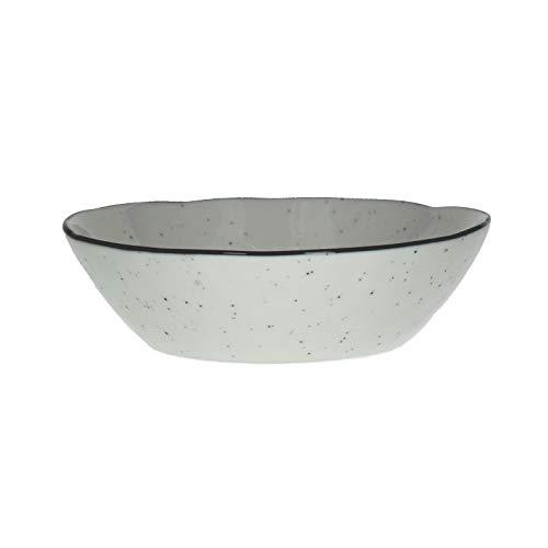 Lot de 6 bols à soupe Basil en porcelaine aspect émail - Diamètre : 18 cm