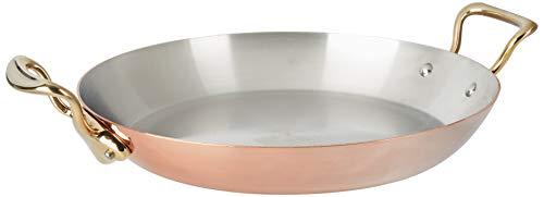 Mauviel 6737.35 M'Heritage M'150B Paella-Pfanne, Kupfer, 34,3 cm, Griff aus Bronzefarben