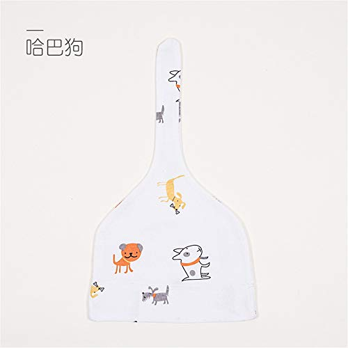 mlpnko Hut 0-12 Monate Babyreifen-Kappenbaumwollneugeborener Babyhut Mops M Code