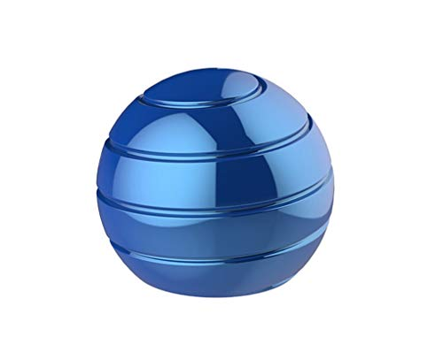 CaLeQi Desktop Ball Transfer Gyro Aluminum Alloy Kinetic Desk Toy Stress Relief Office Executive Gadgets Metal Ball Full Disassembly Rotary Decompression Toy (Blue, S 38mm Ball)