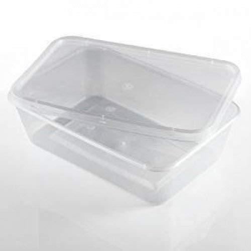 We Can Source It Ltd - Lot de 50 boîtes en plastique recyclables de 650 ml - Passent au micro-ondes et au congélateur